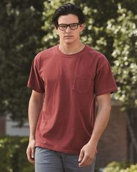 Comfort Colors 6030 Garment Dyed Heavyweight Ringspun Short Sleeve Shirt with a Pocket