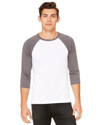 Bella + Canvas 3200 Unisex Three-Quarter Sleeve Baseball T-Shirt