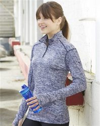 Badger 4193 Blend Women's Quarter-Zip Pullover