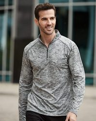 Badger 4172 Tonal Blend Quarter-Zip Pullover