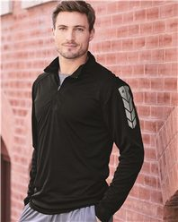 Badger 4148 Metallic Print Core Performance 1/4 Zip